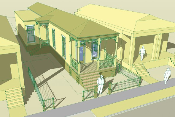 The shotgun house project for Prefab shotgun house