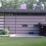 Frank Lloyd Wright McBean House in Rochester, Minnesota. This Usonian house is an example of the second type (Prefab #2) of the Marshall Erdman Prefab Houses.